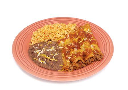 Mexican food enchiladas Stock Photo