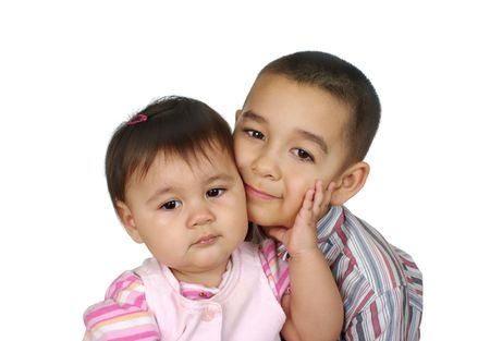Brother and baby sister together Stock Photo - 6838317