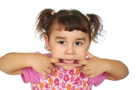 Cute girl making a teasing face Stock Photo - 6838220