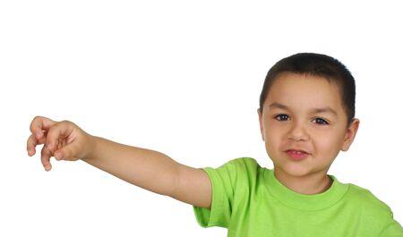 Kid holding nothing Stock Photo - 6838219