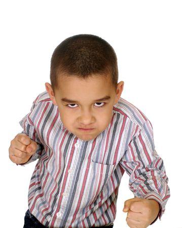 desacuerdo: Chico listo para luchar