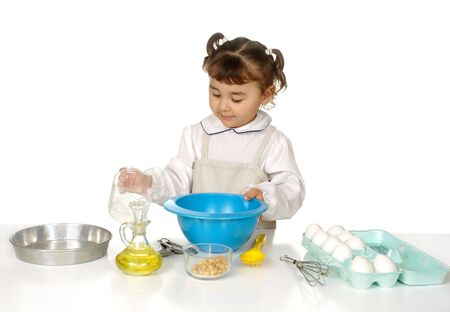 Little girl baking photo