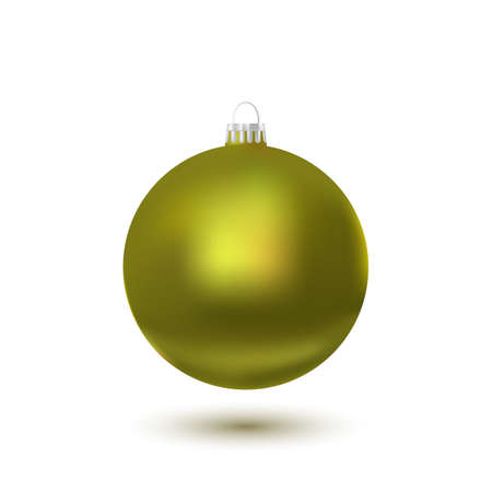 3d ball: Christmas ball - Yellow - Decorated design.