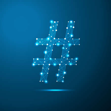 Social media symbol in the form of a starry sky or space, consisting of points, lines, and shapes in the form of planets, stars and the universe