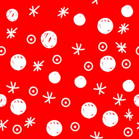 Merry Christmas and Happy New Year seamless background with traditional symbols: snowflakes and gifts. Eps10