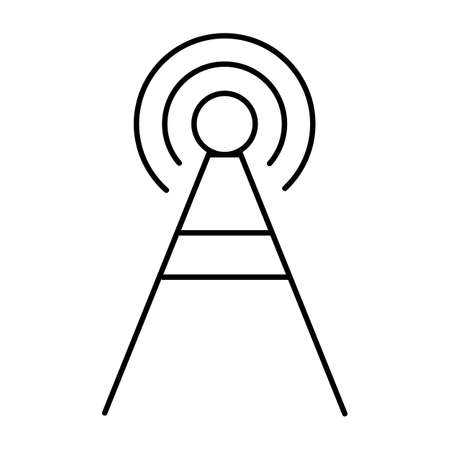 Antenna line icon. Wifi icon