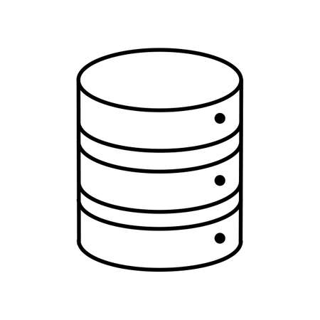 Database, server storage icon. Modern, simple flat illustration for web site or mobile app