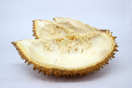 stab: Durian shell brown cut stab Stock Photo