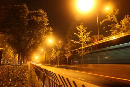 Highway at night under street lights Editorial