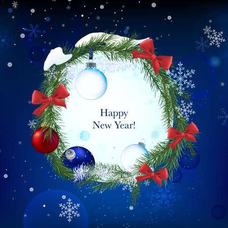 Vector illustration of beautiful christmas garland Illustration