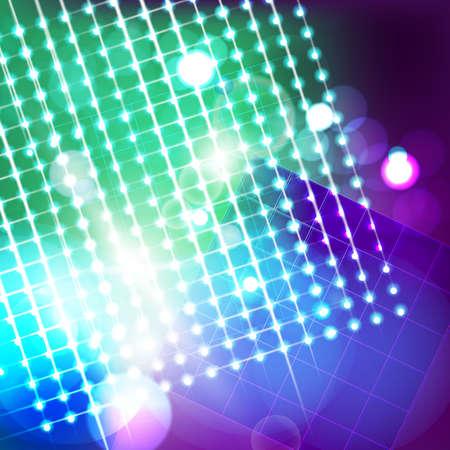 Vector illustration of futuristic digital blurred lights. Illustration