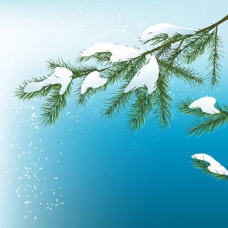 Vector illustration of christmas tree background