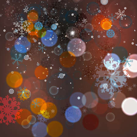 blurred lights: Vector illustration of Christmas blurred lights