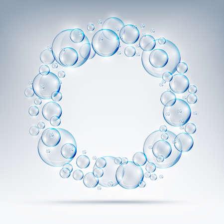 beautiful bubbles circle of soap.ai Illustration