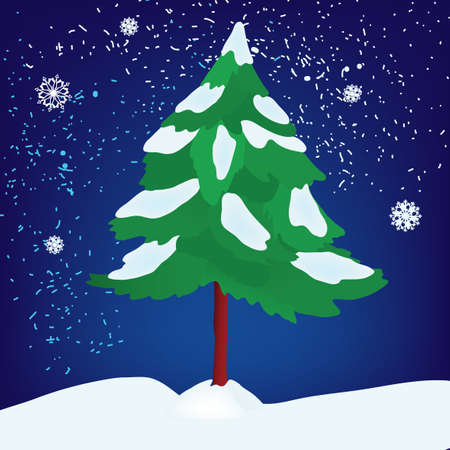 The illustration of  christmas tree