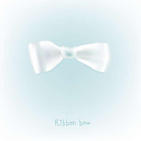 ruban blanc: L'illustration de beau ruban blanc arc. Vecteur d'image.
