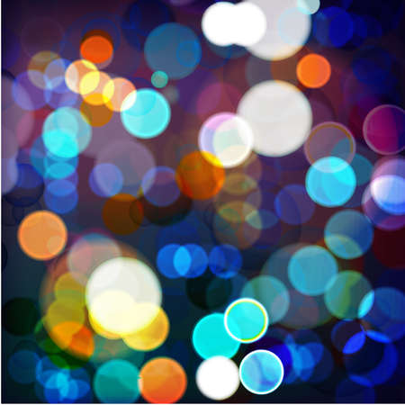 blurred lights: Vector illustration of night_Lights on blurred lights
