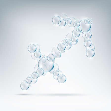 beautiful bubbles arrow of soap Illustration