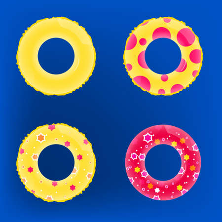 Vector illustration of colorful Inflatable_circles