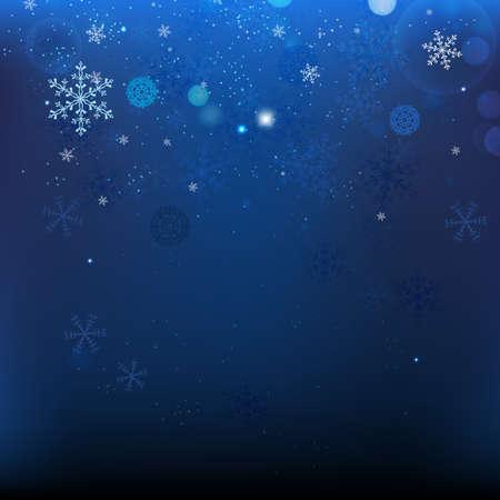 The illustration of snow Christmas Background Illustration