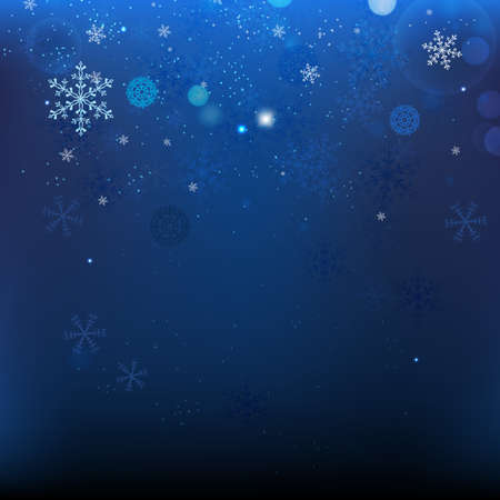 The illustration of snow Christmas Background Ilustração