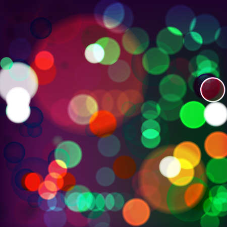 Vector illustration of night_Lights on blurred lights Stock Vector - 25468244