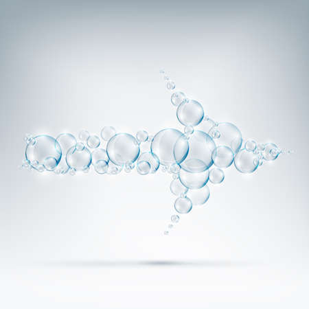 beautiful bubbles arrow of soap.ai Illustration