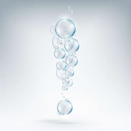 exclamation of soap bubbles Illustration