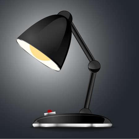 lamp retro table Vector