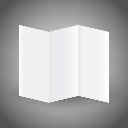 fayer: Blank white folding paper flyer