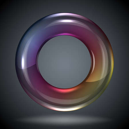 wet flies: soap bubble on black background Illustration