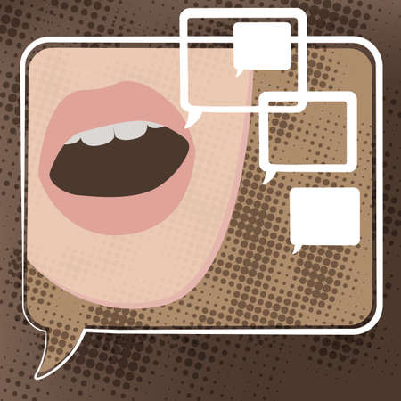 The illustration of speech bubbles  Vector background