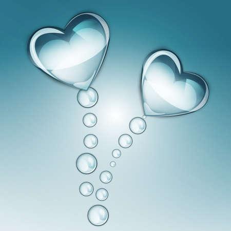 water drop heart Vector