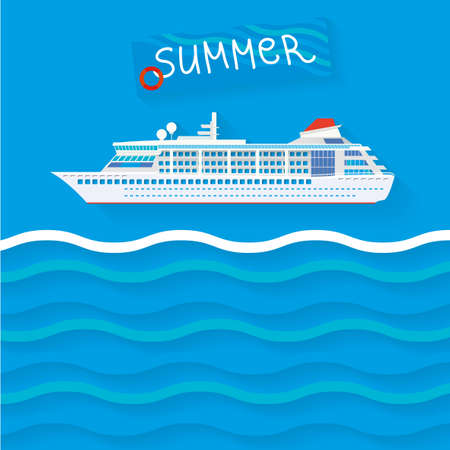 ship sign: The illustration of cruise ship  Vector image  Illustration