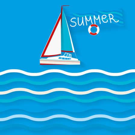 The illustration of cruise ship  Vector image  Illustration