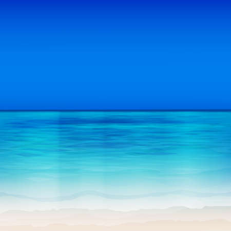waters: The illustration of beautiful sea background. Vector image.