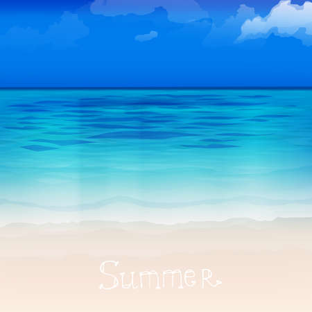sand asia: The illustration of beautiful sea background. Vector image.