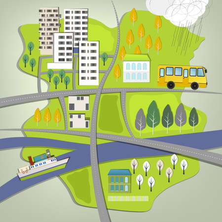 Vector illustration of abstract city map Vector