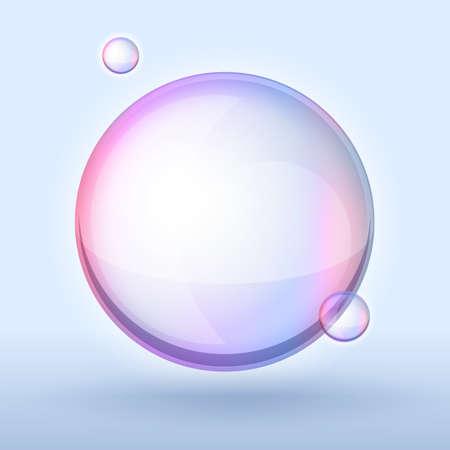 wet flies: soap bubble on dark background