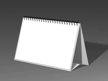 mockup: Desk Calendar isolated