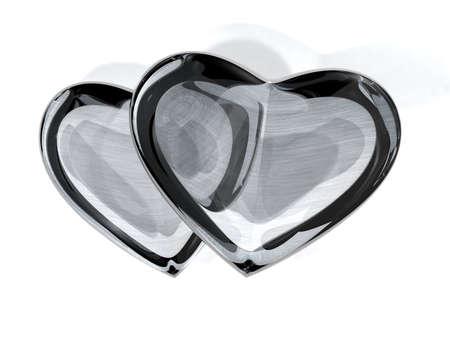 shiny suit: 3d heart
