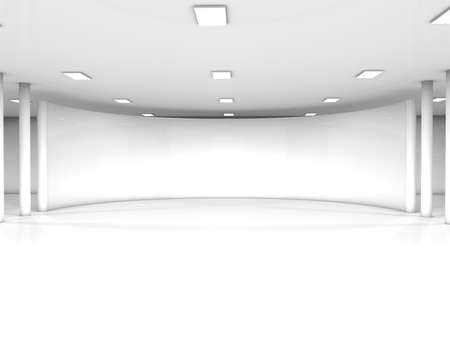 podium: white interior