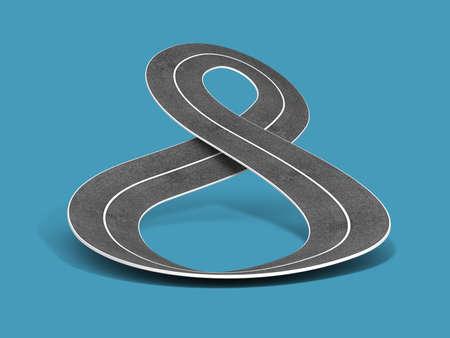 road infinity 3D rendering