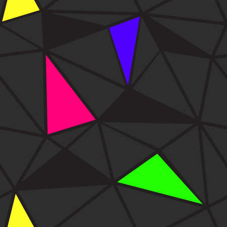 fissure: Polygonal seamless pattern. Vector background.