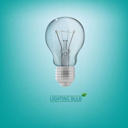 lighting bulb: The illustration of lighting bulb. Energy saving concept. Vector image.