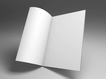 magazine template 3D rendering photo