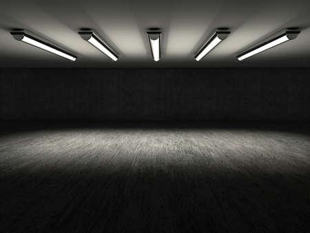 빈 쇼룸 3D 렌더링