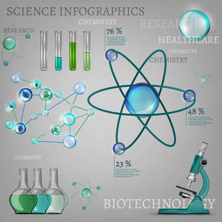 science: The illustration of science infographic. Vector image.