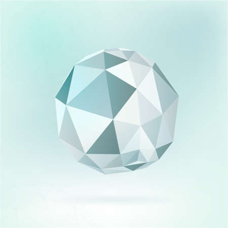 polyhedron: Beautiful vector de fondo molecular con pol�gonos y poliedros formas. Origami de papel objeto gr�fico moderno. Tel�n de fondo Cient�fica para la cibern�tica, digital, dise�o web y la tecnolog�a.