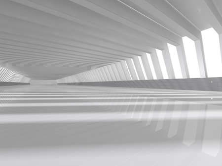 an open space: Abstract modern architecture background, empty white open space interior with windows and gray concrete walls, 3D rendering